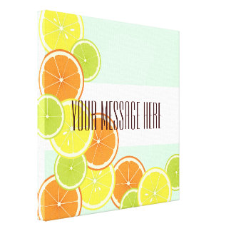 Citrus Fruits Summer Cute Modern Personalized Canvas Print