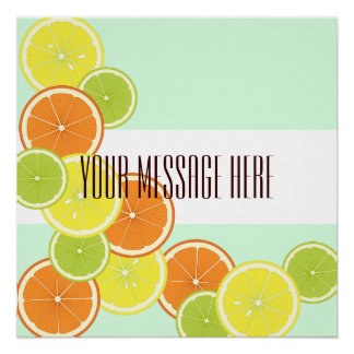 Citrus Fruits Summer Cute Modern Personalized Poster