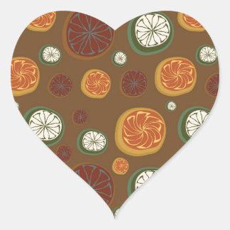 Citrus Heart Sticker