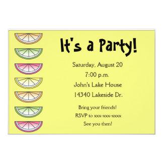 Citrus Lemon Lime Summer Party Invitation