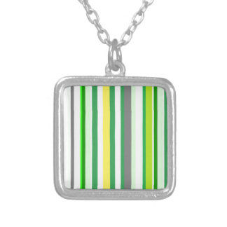 citrus LIMON lines Silver Plated Necklace