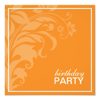 Citrus Orange Birthday Party Invitations