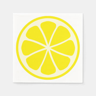 Citrus Party Lemon Paper Napkins