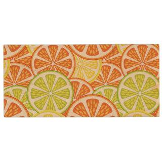 Citrus Pattern 2 Wood USB 2.0 Flash Drive