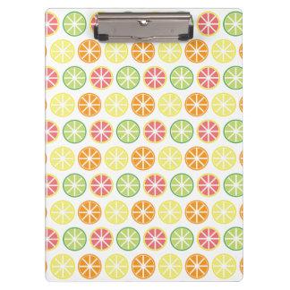 Citrus Pattern Clipboard