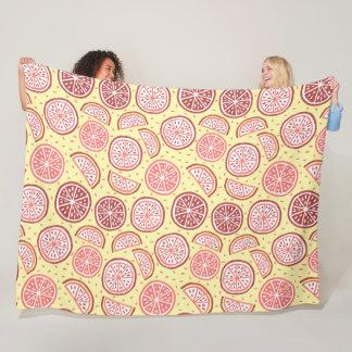 Citrus Pattern fleece blankets