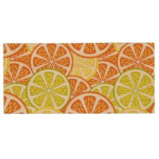 Citrus pattern wood USB 2.0 flash drive