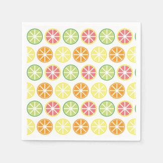Citrus Pattern Paper Napkins