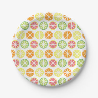 Citrus Pattern Paper Plates