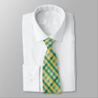 Citrus Plaid Necktie