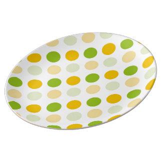 Citrus Polka Dots Porcelain Plates
