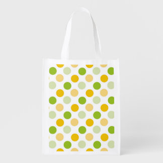 Citrus Polka Dots Reusable Grocery Bag