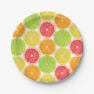 Citrus slices paper plate