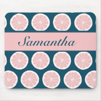 Citrus Slices with Personalized Nameplate Mousepad