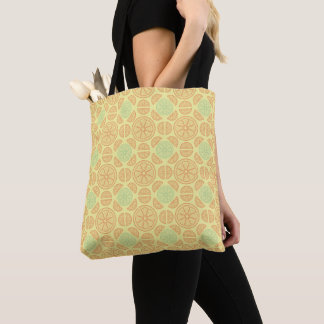 Citrus Splash Illustration Tote Bag