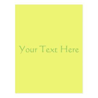 Citrus Yellow Postcard