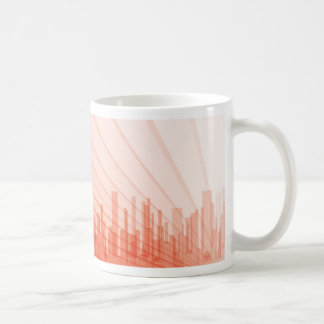 City Abstract Background Coffee Mug