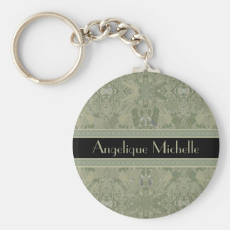 City Abstract with Your Name Key Ring