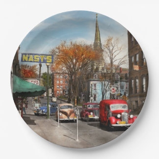 City - Amsterdam NY - Downtown Amsterdam 1941 9 Inch Paper Plate