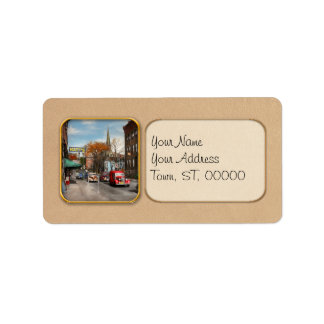 City - Amsterdam NY - Downtown Amsterdam 1941 Address Label