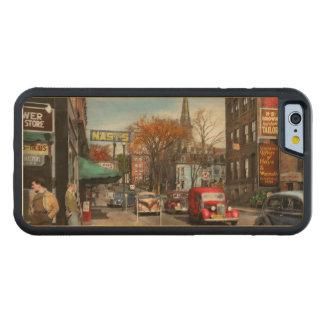 City - Amsterdam NY - Downtown Amsterdam 1941 Carved Maple iPhone 6 Bumper Case