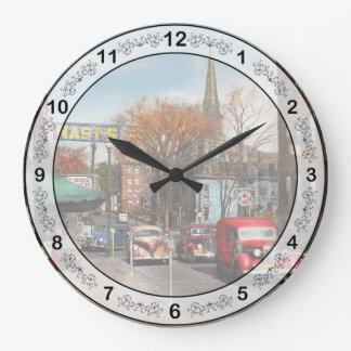 City - Amsterdam NY - Downtown Amsterdam 1941 Large Clock