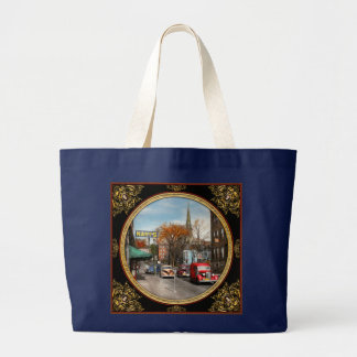 City - Amsterdam NY - Downtown Amsterdam 1941 Large Tote Bag