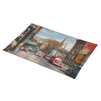 City - Amsterdam NY - Downtown Amsterdam 1941 Placemat