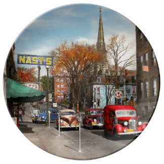 City - Amsterdam NY - Downtown Amsterdam 1941 Porcelain Plates