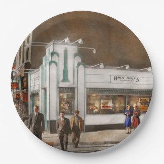 City - Amsterdam NY - Hamburgers 5 cents 1941 Paper Plate