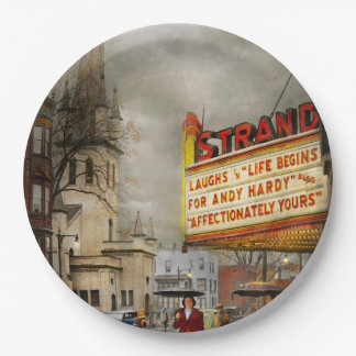 City - Amsterdam NY - Life begins 1941 9 Inch Paper Plate