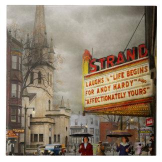 City - Amsterdam NY - Life begins 1941 Ceramic Tile