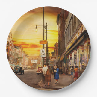 City - Amsterdam NY - The lost city 1941 9 Inch Paper Plate