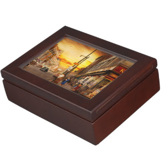 City - Amsterdam NY - The lost city 1941 Keepsake Box