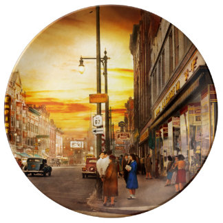 City - Amsterdam NY - The lost city 1941 Porcelain Plate