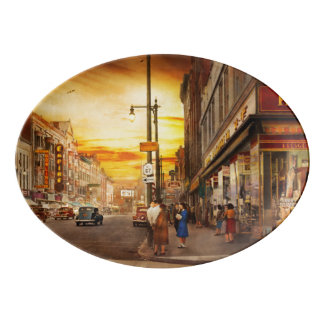 City - Amsterdam NY - The lost city 1941 Porcelain Serving Platter