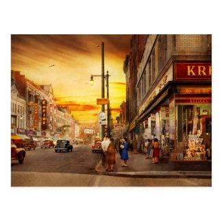 City - Amsterdam NY - The lost city 1941 Postcard