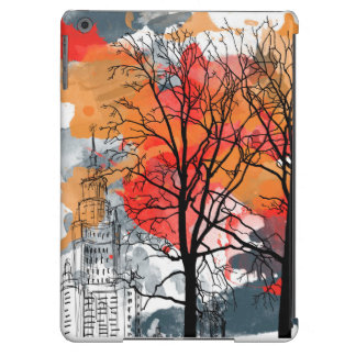 City and trees iPad air cover