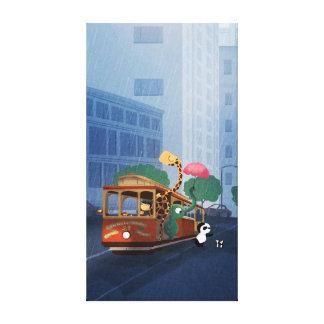 City Animal Nursery Art Here Comes The Rain Lrg Canvas Prints