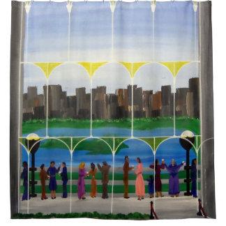 City Balcony Shower Curtain