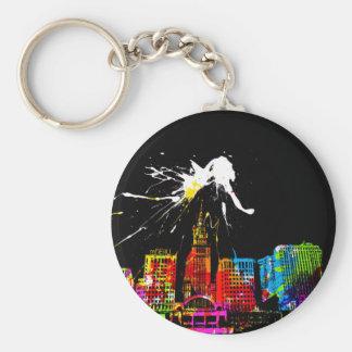 City Basic Round Button Key Ring