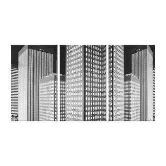 City Blocks Wrapped Canvas Canvas Print