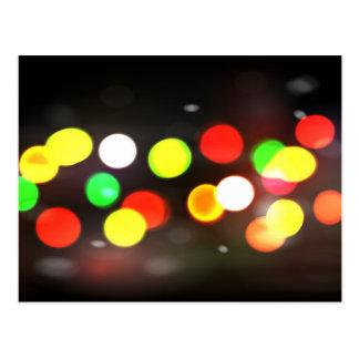 City Bokeh Blur Postcard