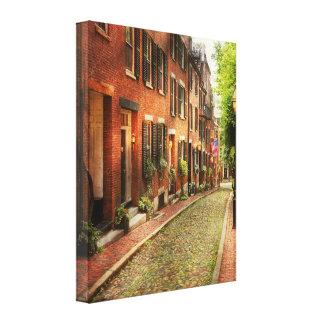 City - Boston MA - Acorn Street Canvas Print