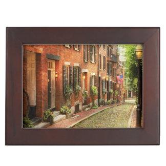 City - Boston MA - Acorn Street Keepsake Box