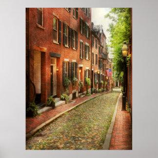 City - Boston MA - Acorn Street Poster