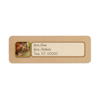 City - Boston MA - Acorn Street Return Address Label