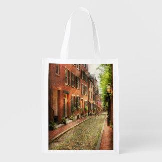 City - Boston MA - Acorn Street Reusable Grocery Bag