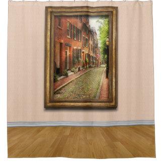 City - Boston MA - Acorn Street Shower Curtain
