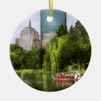City - Boston Ma - Boston public garden Ceramic Ornament